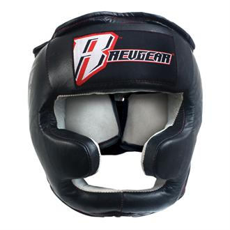 Revgear Revgear Leather Headgear with Chin Guard